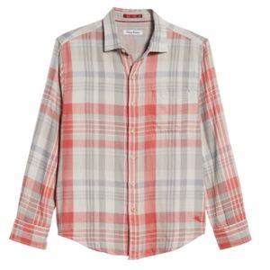Tommy Bahama Monteverde Madras MENS FLANNEL Shirt
